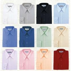 Camisa de caballero manga larga lisa 48 Kotting