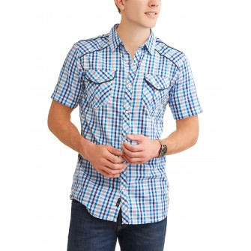 Burnside - Camisa manga corta cuadrille 2XL
